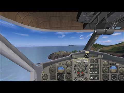 FS2004 - Approach & Landing - SABA - Juancho Yrausquin - Netherlands Antilles