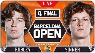 🔴 RUBLEV vs SINNER | Barcelona Open 2021 | LIVE Tennis Play-by-Play Stream