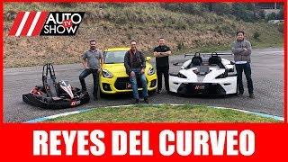 Reyes del curveo 👑: Suzuki Swift Sport, Go Kart K1 y KTM XBOX