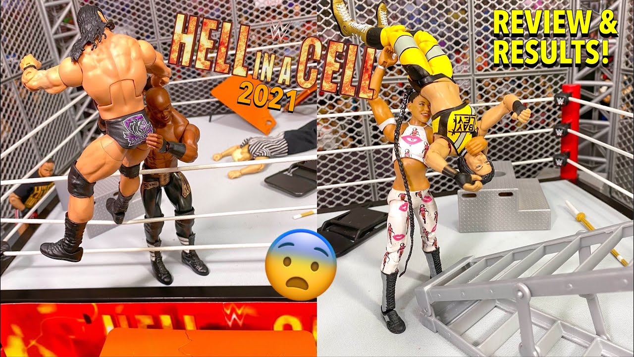 WWE HELL IN A CELL 2021 REVIEW & RESULTS! WWE ACTION FIGURE SET-UP!