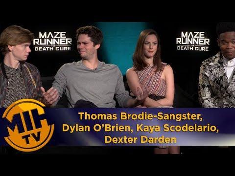 Maze Runner Thomas Brodie-Sangster, Dylan O'Brien, Kaya Scodelario, Dexter Darden Interview