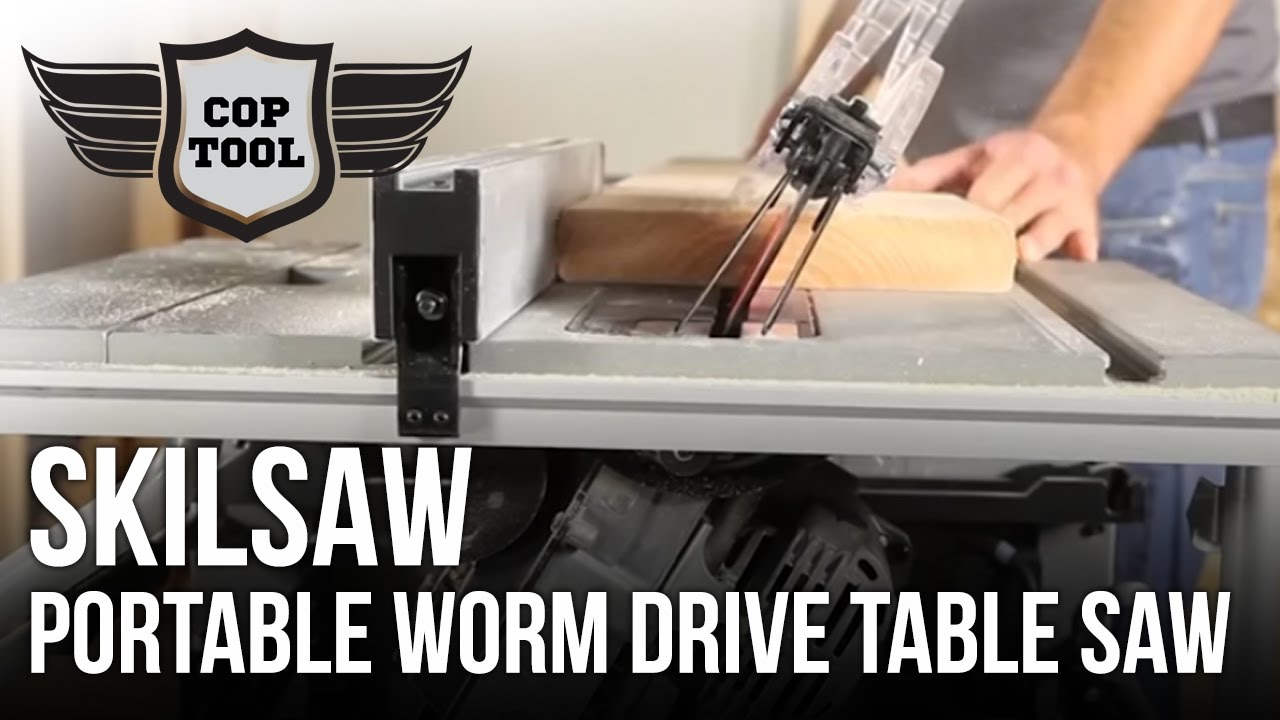 """skilsaw 10"""" portable worm drive table saw spt70wt-22"""