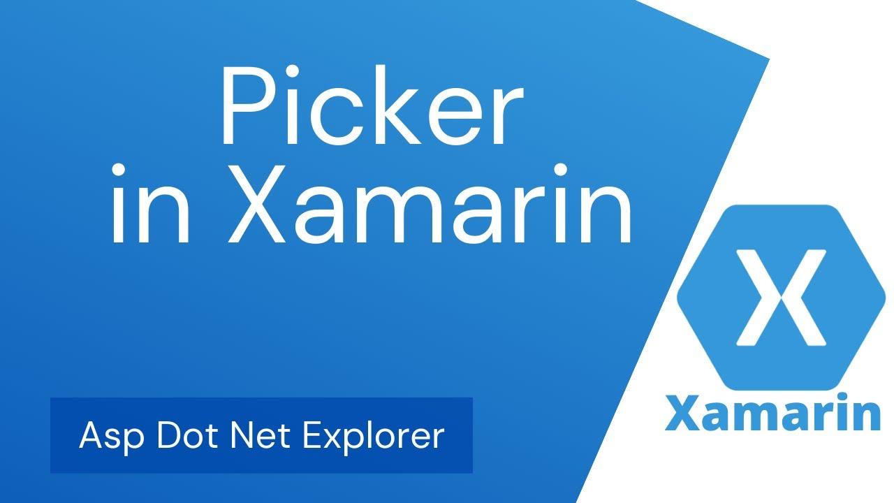 How to use Picker in Xamarin Forms | ComboBox | Dropdown | DropdownList