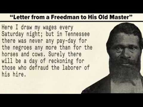 Letter From A Freedman To His Old Master.A Letter From An Ex Slave To His Old Master