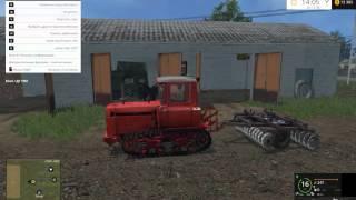 Обзор трактора ДТ-75 в игре Farming Simulator 2015!