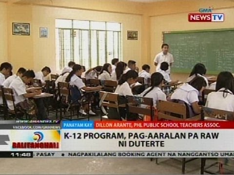 BT: K-12 program, pag-aaralan pa raw ni Duterte