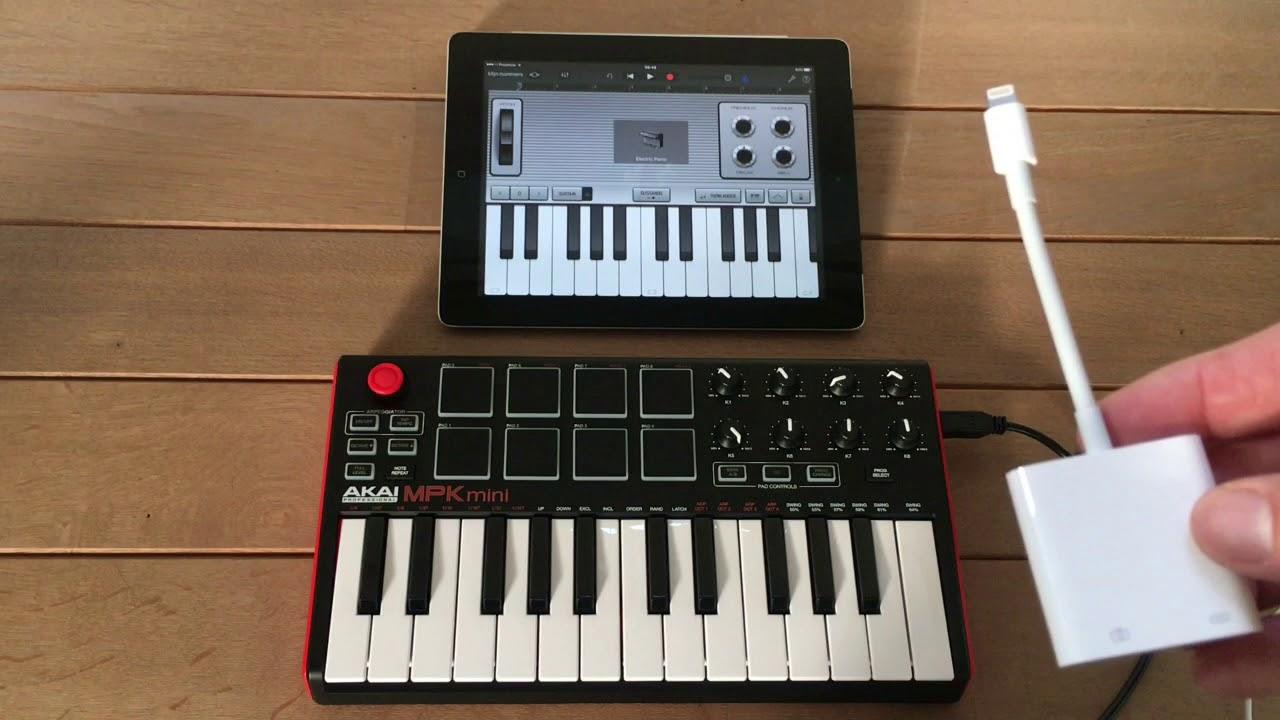 AKAI MPK Mini and iPad - Connecting