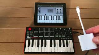aKAI MPK Mini and iPad - Connecting