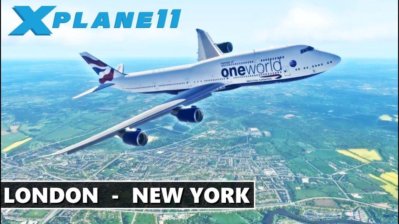 ✈️ X-PLANE 11 | B747-8i | LONDON (EGLL) - NEW YORK CITY (KJFK) FULL FLIGHT  | BRITISH AIRWAYS ONE