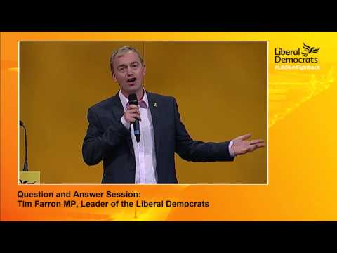 Liberal Democrats Autumn Conference 2015 Tim Farron's Q&A