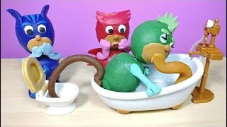 PJ Masks Play-Doh Gekko Potty Training Ice Cream Throw Up in Toilet Owlette Episode Compilation