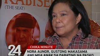24 Oras: Nora Aunor, gustong makasama ang mga anak sa   darating na pasko
