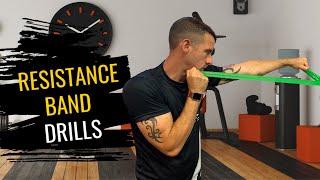 3 Resistance Band Exercises   Boxing Training