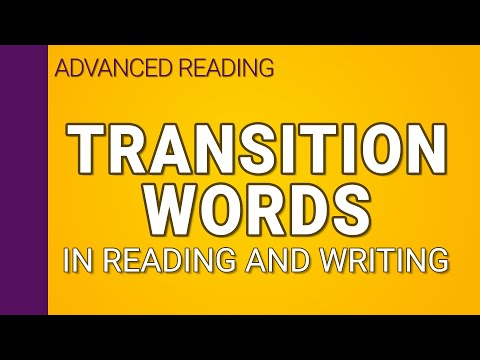 Transition words in reading and writing