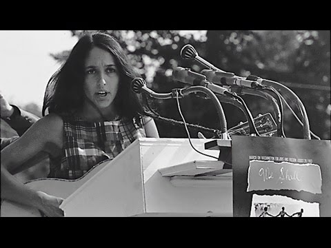 "Joan Baez performs ""We Shall Overcome"" at the March on Washington"