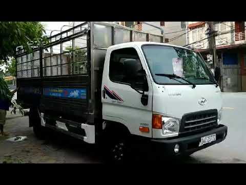 Hyundai Mighty 2017 Thùng bạt inox, hàng rào nâng thủy lực - YouTube