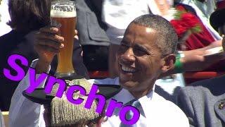 ☺☺ Angela Merkel mit ihrem Hausfreund Obama in Bayern (2015)