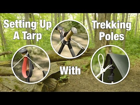 Setting Up A Tarp With Trekking Poles