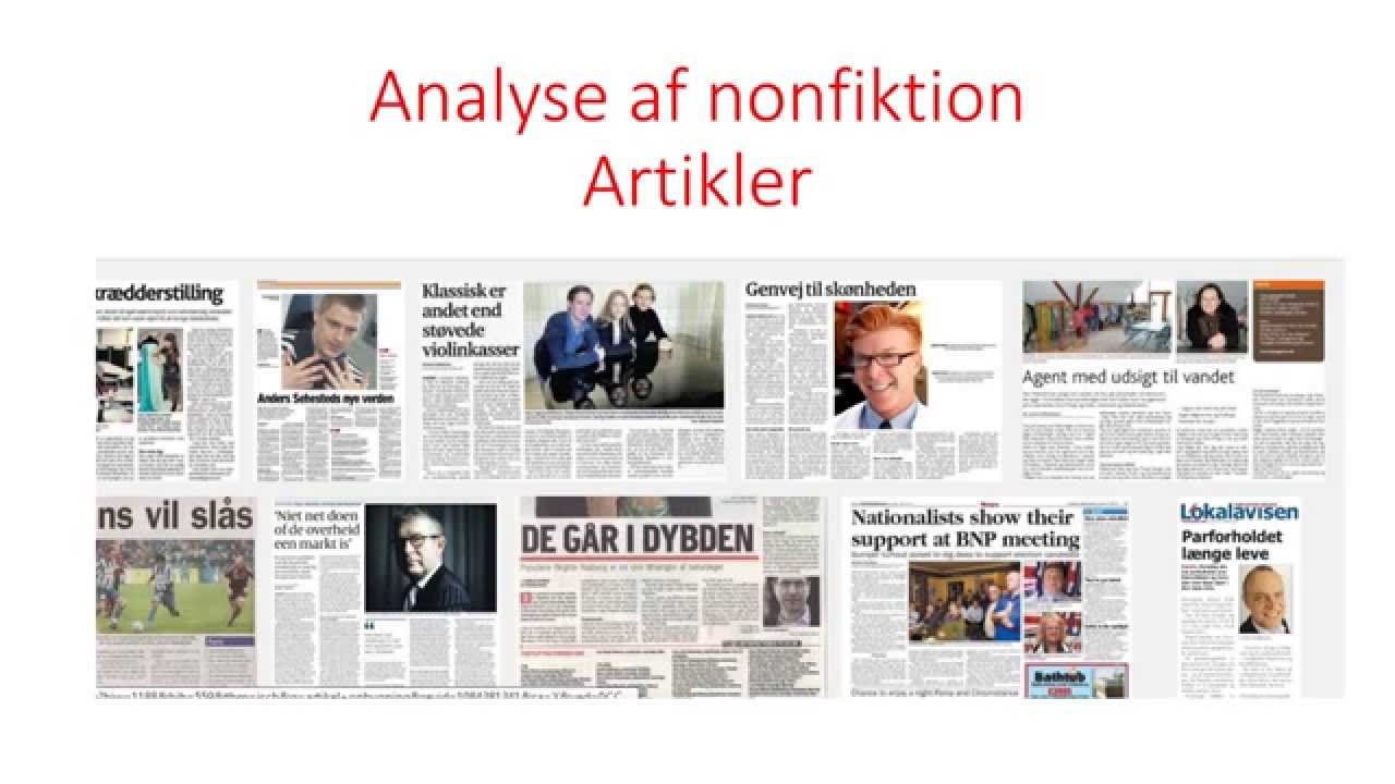 Analyse af nonfiktion