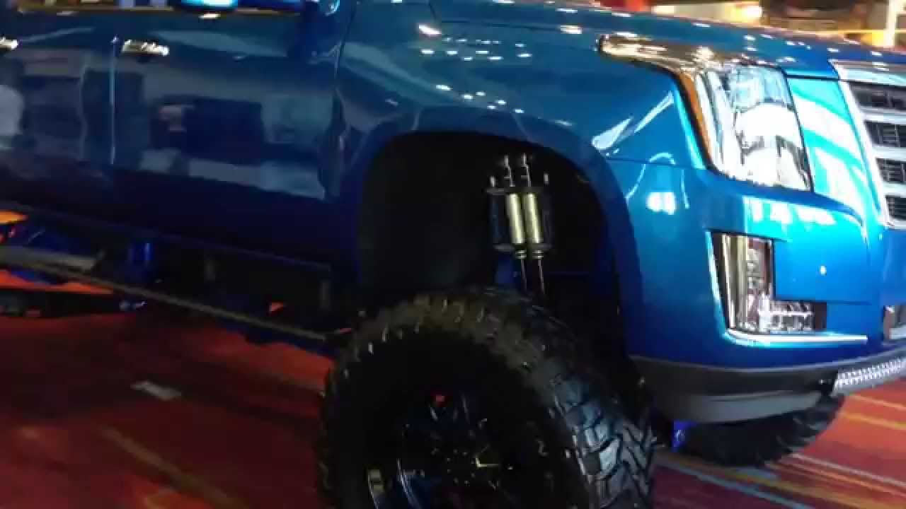 Cadillac Front Clip on Silverado SEMA - YouTube