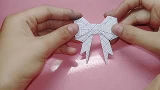 Cách làm nơ bằng giấy đơn giản