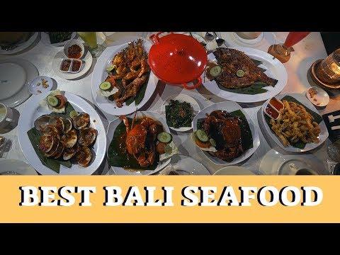 Best Seafood In Bali WITH SUNSET Views – Jimbaran Beach Vlog