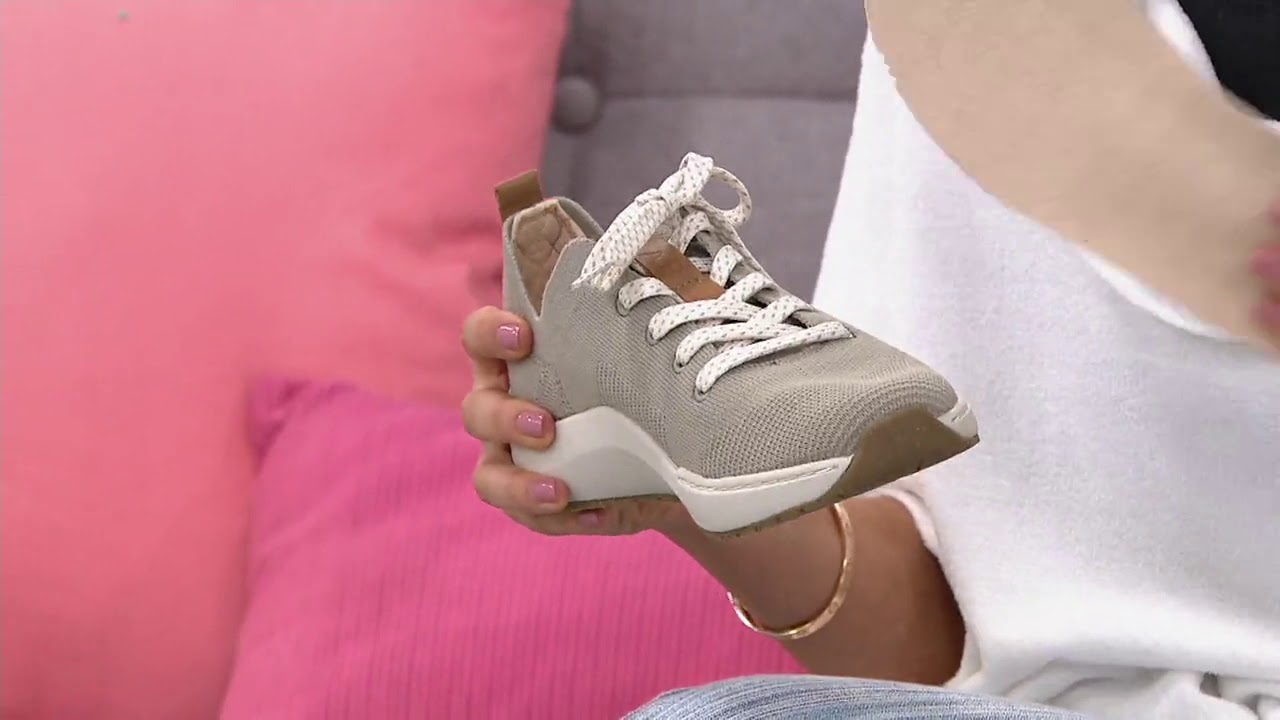 Lace-Up Knit Sneakers - Herzog on QVC