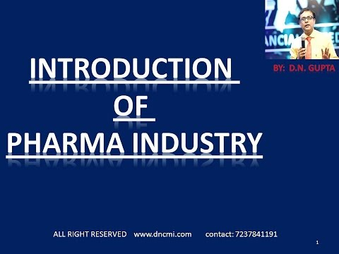 INTRODUCTION OF PHARMA INDUSTRY , BY: C.M.I. (M.R. TRAINING INSTITUTE)