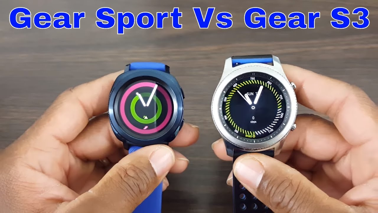 gear sport 42mm vs gear s3 classic comparison what s the difference