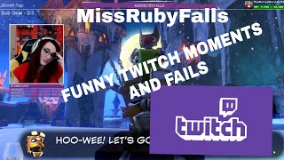 (WARNING, SALTY)Funny Twitch moments of MissRubyFalls! | Funny twitch moments and fails #1
