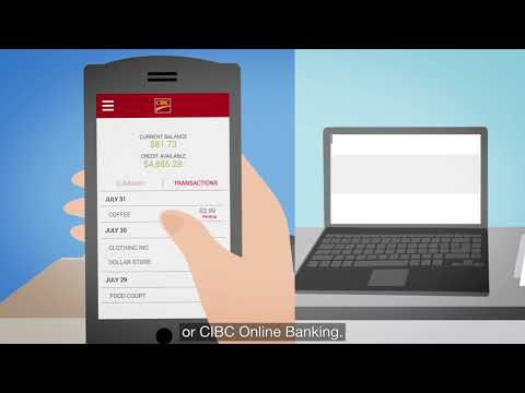 View your credit card transactions in real-time | CIBC