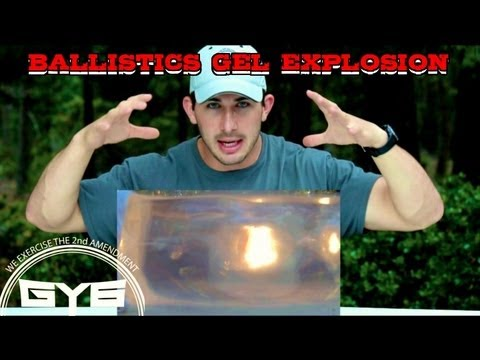 Explosion Inside of Ballistics Gel- GY6 Ballistics Test #4