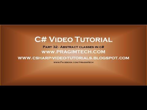 Part 32 - C# Tutorial - Abstract classes in c#.avi