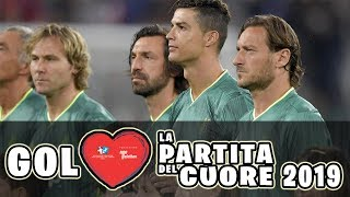 FULL HIGHLIGHTS PARTITA DEL CUORE 2019 CHARITY MATCH with CRISTIANO RONALDO, TOTTI, PIRLO, BUFFON...