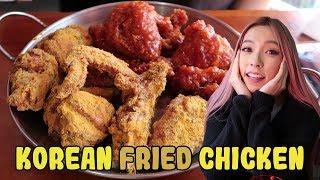 Eating Korean Fried Chicken ft. Hanbok Queen