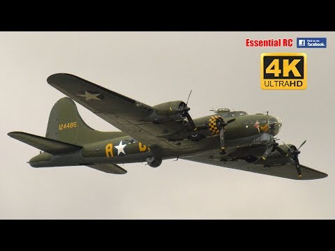 SALLY B Boeing B-17 Flying Fortress at RIAT 2017 [*UltraHD and 4K*]