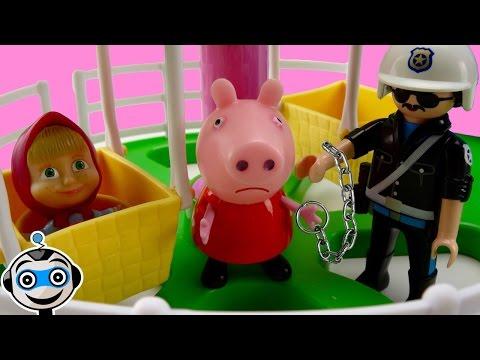 Peppa y Masha se cuelan en la feria y Peppa va a la carcel por no pagar