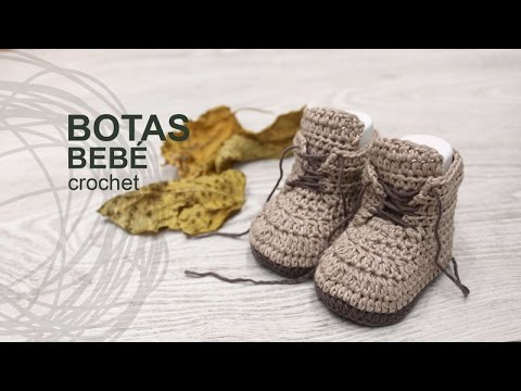 Tutorial Botas Bebé Crochet o Ganchillo en Español - YouTube