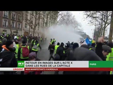 Retour en images sur l'acte 10 des Gilets jaunes dans les rues de Paris