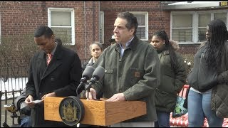 Governor Cuomo Holds a Press Briefing at NYCHA in the Bronx