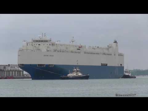 """RoRo Vehicles Carrier the """"Grand Uranus"""" leaves for Port Klang 7/5/17"""