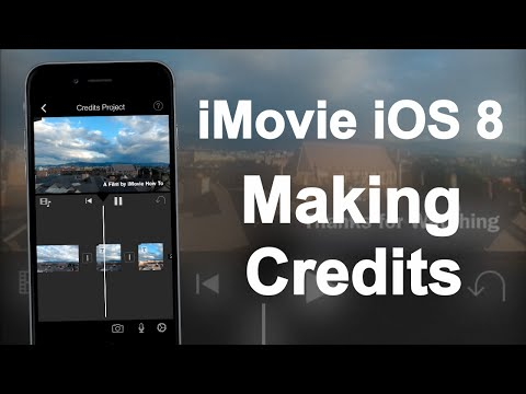 iMovie for iOS 8 - Making Credits