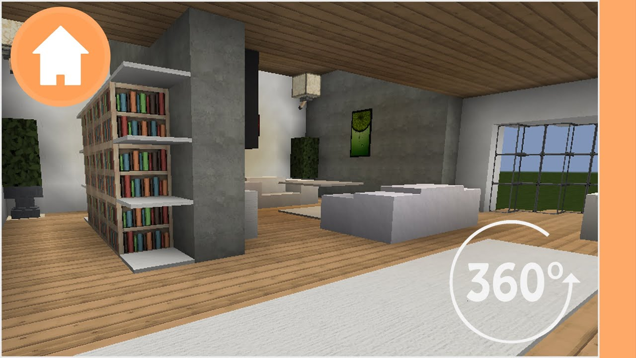 Living Room Minecraft minecraft living room designs - 360° degree minecraft - youtube