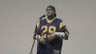 Steven Hernandez performing at Black Pearl Poetry