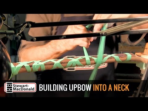 Building upbow into the guitar neck