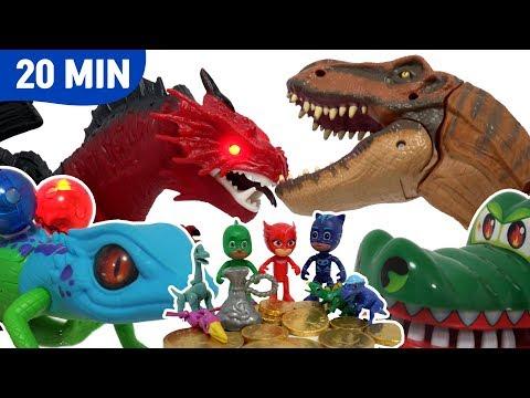 파자마삼총사와 공룡배틀 모음 20분 PJ Masks dinosaur Episodes - 레오팡 - 공룡노래 공룡동요 공룡송 키즈송 유아동요 동요