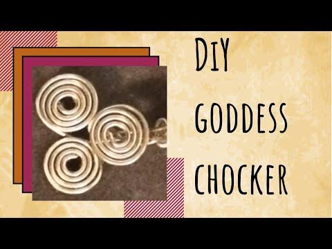 DIY: Spiral Triple Goddess Choker