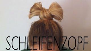 Schleifen - Zopf / einfache Hochsteckfrisur für lange Haare
