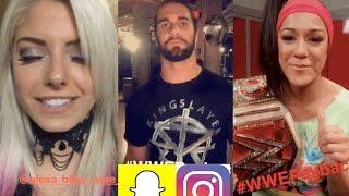 WWE Snapchat/IG Ft. Seth Rollins, Alexa Bliss, Bayley, Naomi n MORE