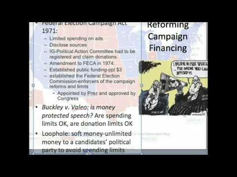 Campaign Financing Part I